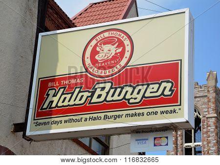 Halo Burgers Store Logo