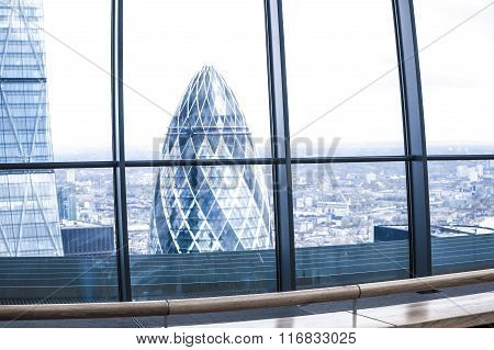 City of London view, business and banking aria