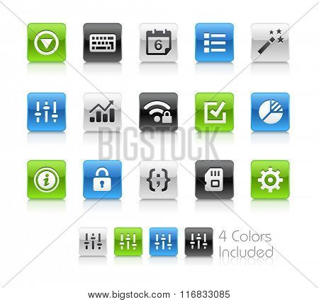 Web and Mobile Icons 4 / The file Includes 4 color versions in different layers.