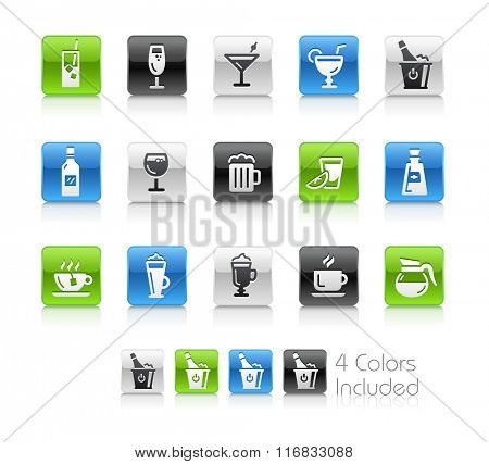 Drinks Icons / The file Includes 4 color versions in different layers.