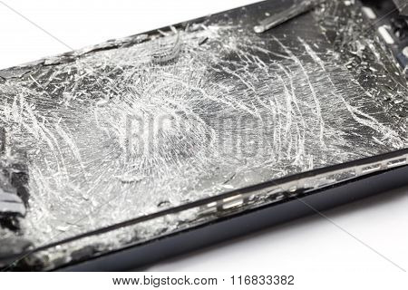Mobile Smartphone With Broken Screen