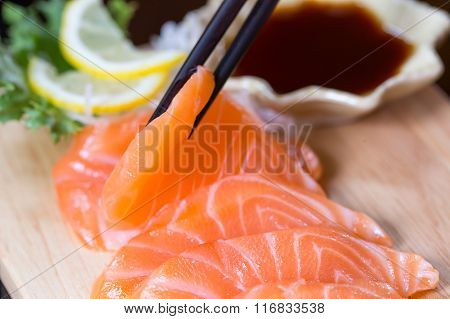 Sashimi, Salmon, Japanese Food