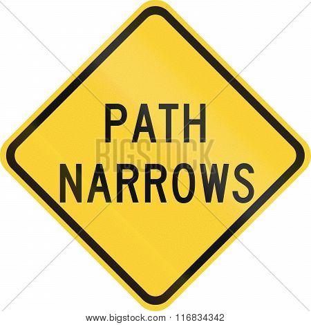 United States Mutcd Road Sign - Path Narrows