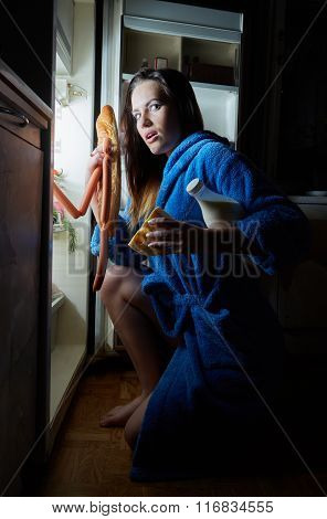 Woman Take Food