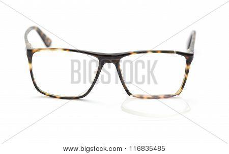Glasses With Broken Lens