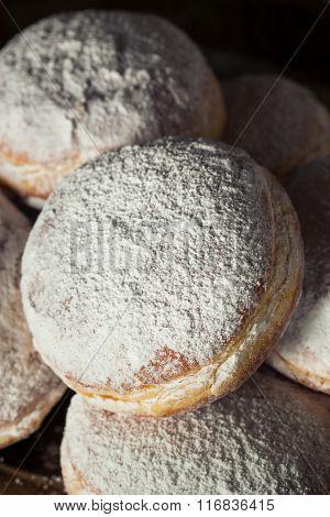 Homemade Sugary Paczki Donut