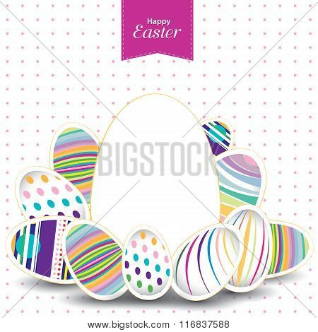 Easter day  for egg on vector design. Colorful pattern for eggs. Colorful egg isolated on white and