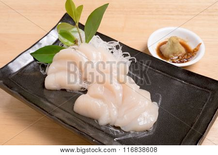Scallop For Sashimi - Japanese Food Style