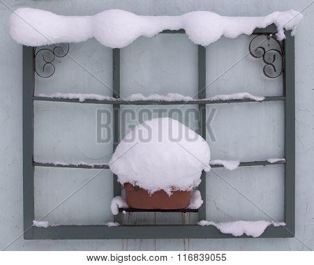 Window Frame in Snow