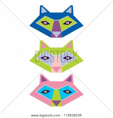 Colorful set of animals vector