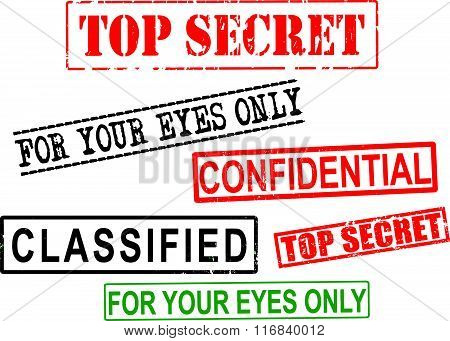 Top Secret, Confidential, Classified File Grunge