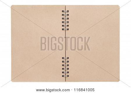 blank spiral brown notebook