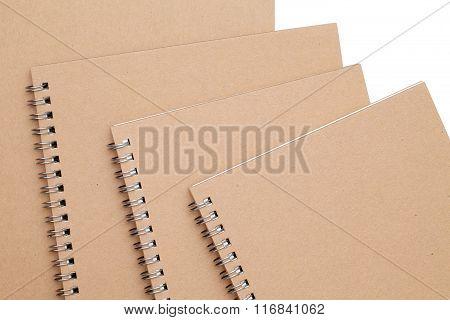 spiral brown notebook