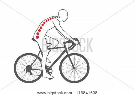 Back pain of biker