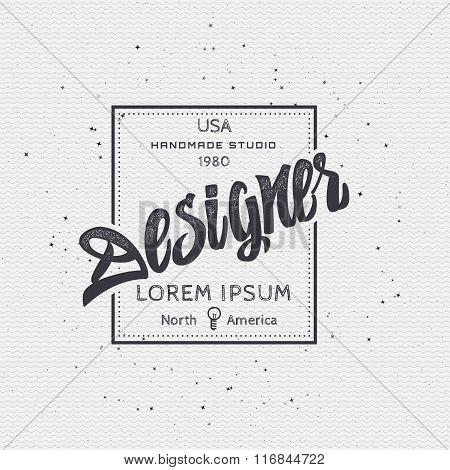 Designer - Insignia sticker can be used as a finished logo, or design, corporate identity presentati