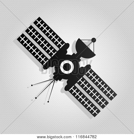 Satellite Isolated Over White Background