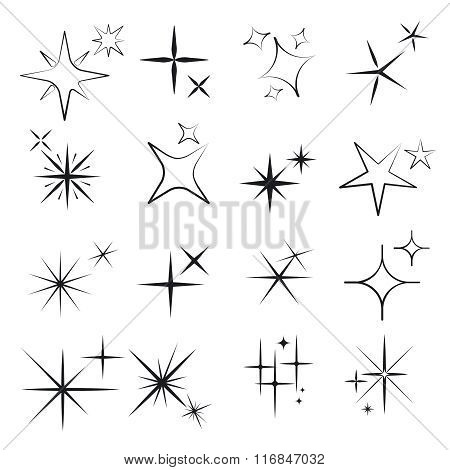 Sparkles line icons
