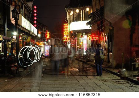 Fengjing Town Shanghai Night View