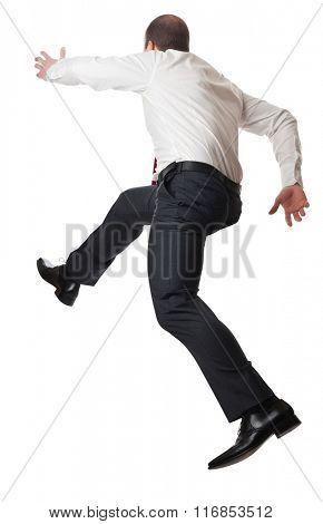 running man on white background