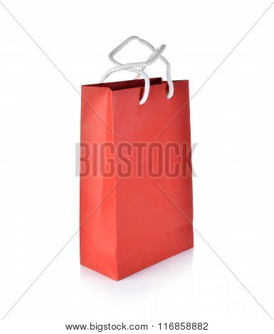 Empty Paper Bag On White Background