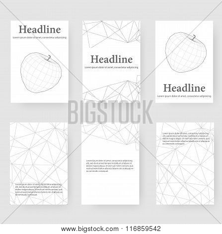 Abstract Creative concept vector background of the apple. Polygonal design style letterhead