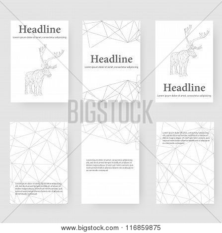Abstract Creative concept vector background of the deer. Polygonal design style letterhead