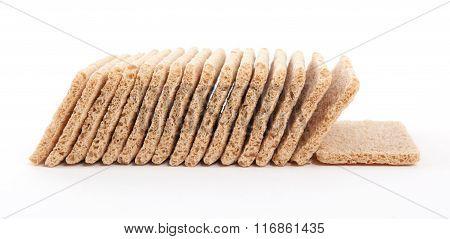 Crackers (breakfast) Isolated