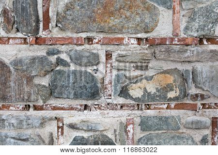 Background of vintage stone wall texture photo