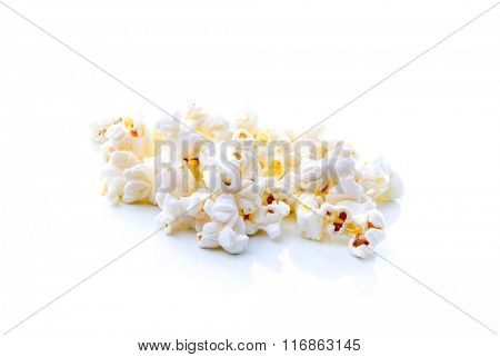 Pop corn on white background