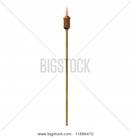 Tiki Torch Illustration
