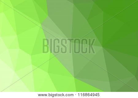 Green Polygon Pattern For Background Or Web Banner Design.