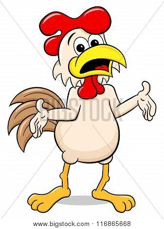 Perplexed Cartoon Chicken