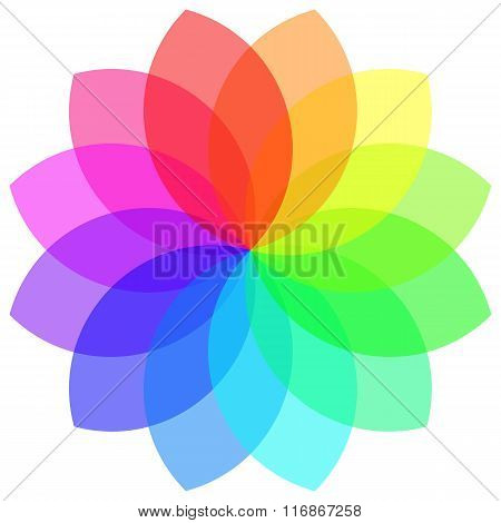 Colorful Geometric Mandala Flower