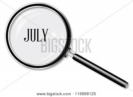July Magnifying Glass
