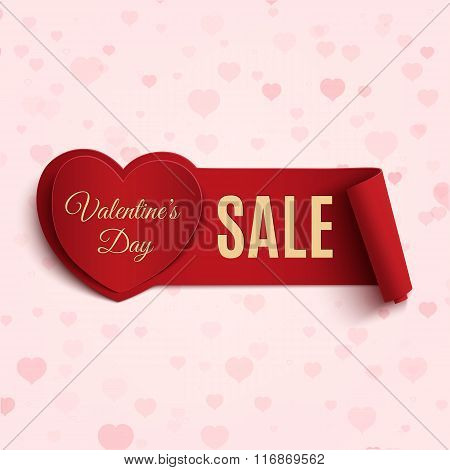 Valentines Day Sale banner.