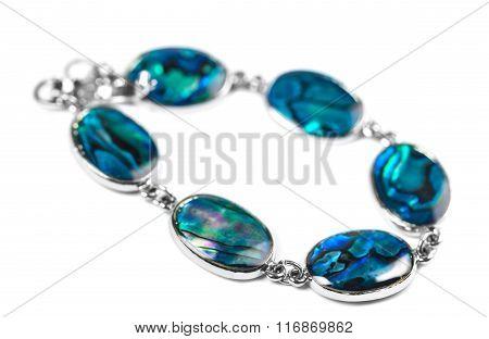 Silver Bracelet With Stones