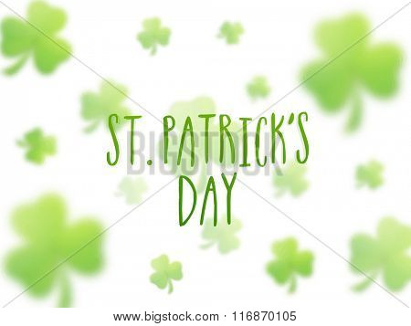 Beautiful shamrock leaves decorated greeting card design for Happy St. Patrick's Day celebration.