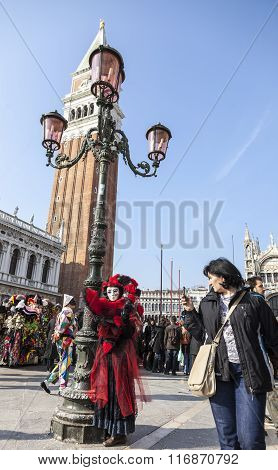 Disguised Person - Venice Carnival 2012