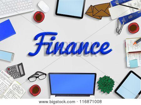 Finance Economics Savings Working Business Concept