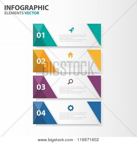 Colorful banner presentation templates Infographic elements flat design set