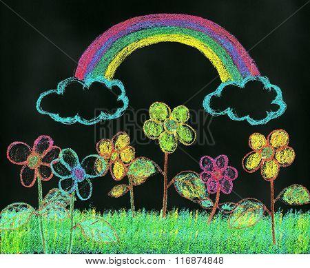 Rainbow Over the Garden