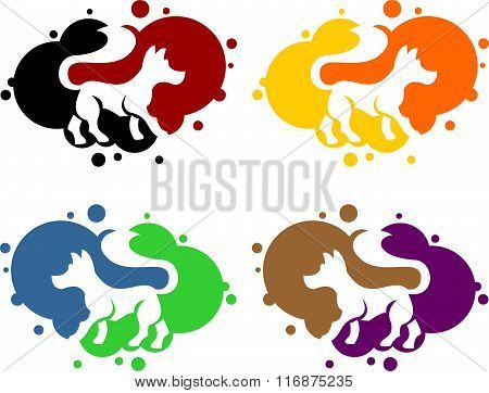 stock logo bubble dog