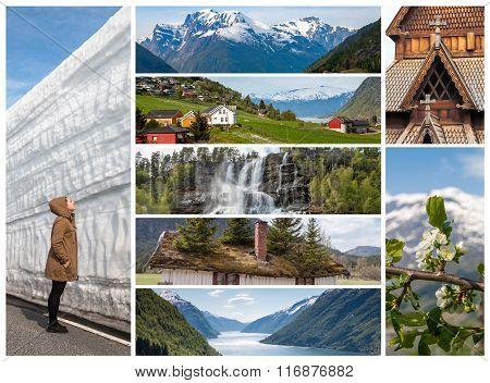 Collage - Norwegian natural landscapes