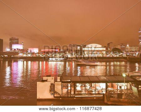 River Thames South Bank, London Vintage