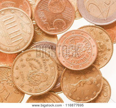 Euro Coins Vintage