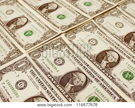Retro Look Dollar Notes 1 Dollar