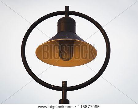 Close Up Of Street Lamp