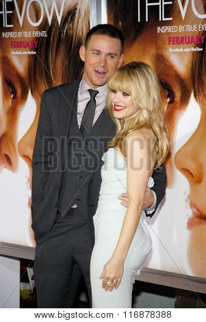 Rachel McAdams and Channing Tatum at the Los Angles Premiere of