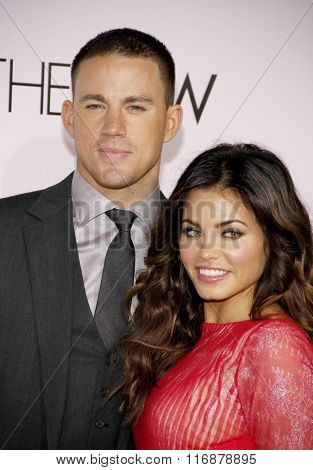 Channing Tatum and Jenna Dewan at the Los Angeles Premiere of