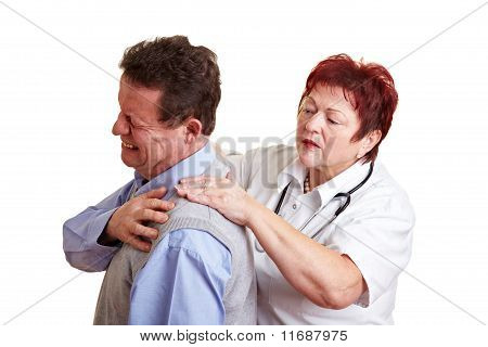Female Doctor Examing Back Pain
